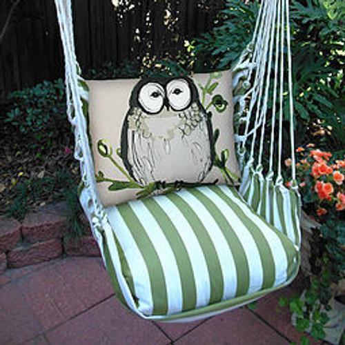 Owl Striped Hammock Chair Swing