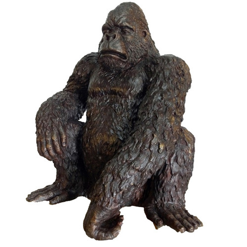 Gorilla Bronze Outdoor Statue | Metropolitan Galleries | SRB705248A