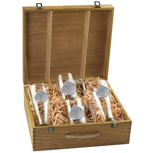 Aspen Leaf Beer Glass Boxed Set