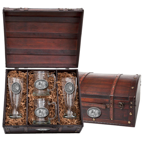 Lion Beer Glass Chest Set