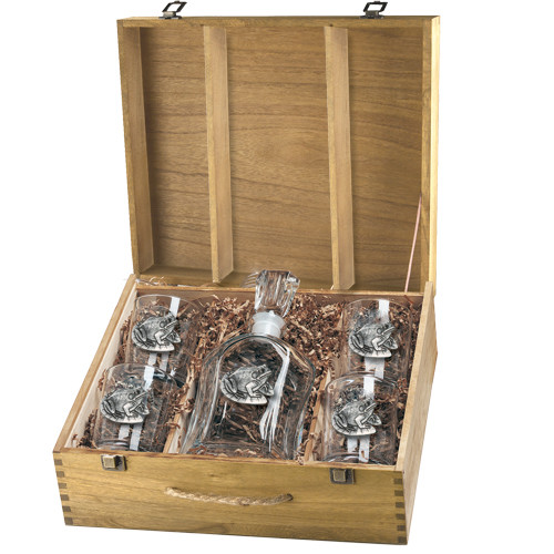 Frog Capitol Decanter Boxed Set | Heritage Pewter | HPICPTB4114