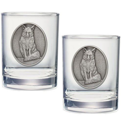 Fox Double Old Fashioned Glass Set of 2