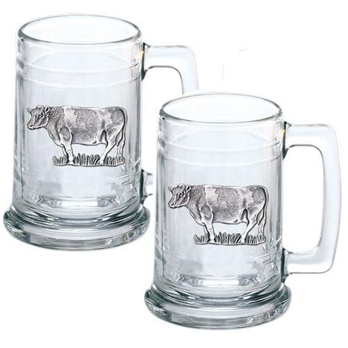 Cow Beer Stein Set of 2