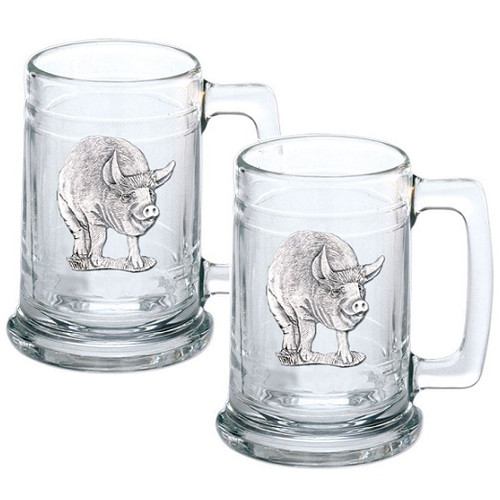 Pig Beer Stein Set of 2