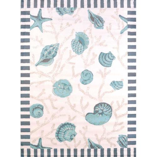 Blue Shells Area Rug