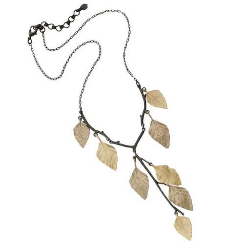 Autumn Birch Y Pendant Necklace | Nature Jewelry