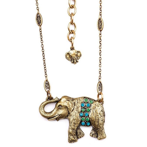 Elephant Pendant Necklace  | Nature Jewelry
