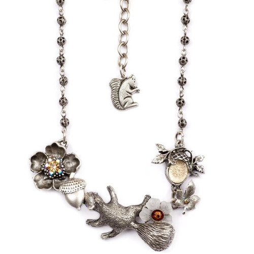 Squirrel Necklace | Nature Jewelry