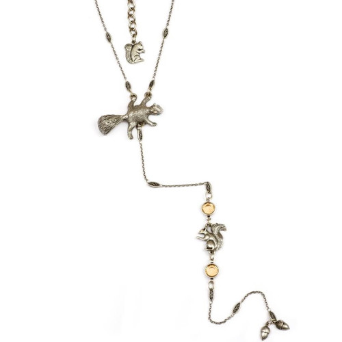 Squirrel Y Necklace  | Nature Jewelry
