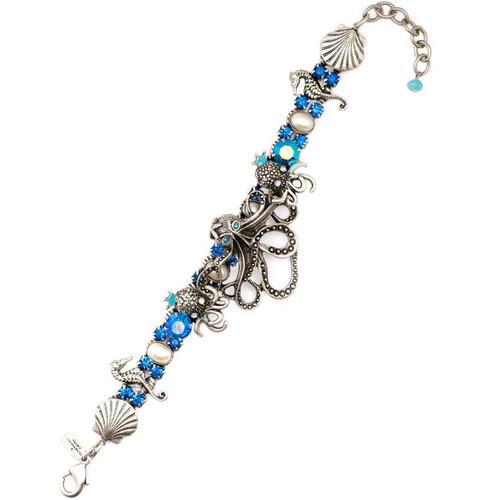 Octopus Blue Bracelet  | Nature Jewelry