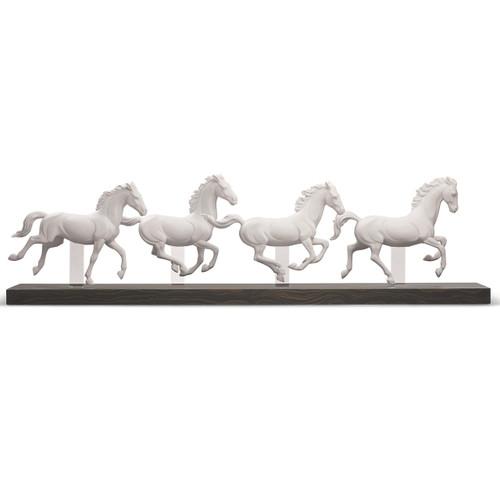 "Horse Porcelain Figurine ""Galloping Herd"""