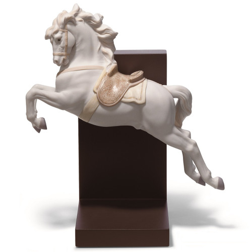 Horse On Pirouette Porcelain Bookend