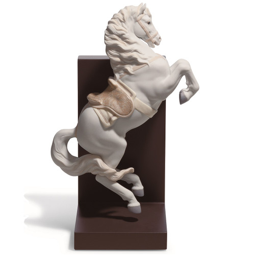 Horse On Courbette Porcelain Bookend