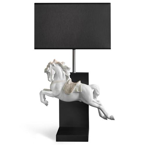 Horse On Pirouette Porcelain Lamp | Lladro | LLA01023062