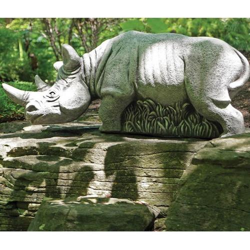 """Rhino Outdoor Concrete Garden Statue """"Hornsby"""""""