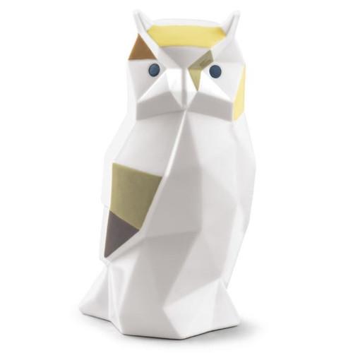 Owl Crystalline Origami Porcelain Figurine