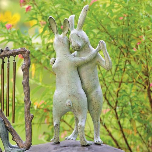First Dance Rabbits Garden Sculpture | 34544
