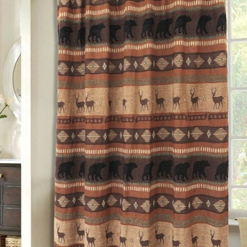 Deer and Bear Autumn Trails Shower Curtain