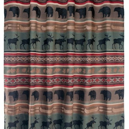 Bear and Elk Backwoods Shower Curtain