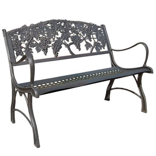 Grapes Cast Iron Loveseat Garden Bench