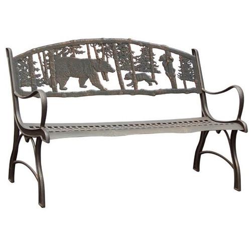 Bear Cast Iron Garden Bench