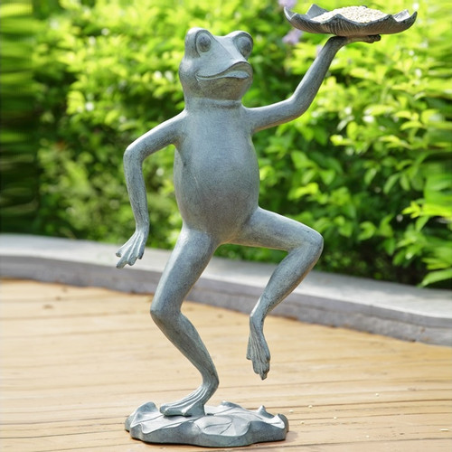 Dancing Frog With Lily Pad Bird Feeder | 34552
