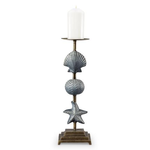 Shell and Starfish Pillar Candle Holder   34536