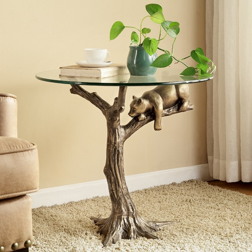 "Bear End Table ""Sleepy Bear"" 