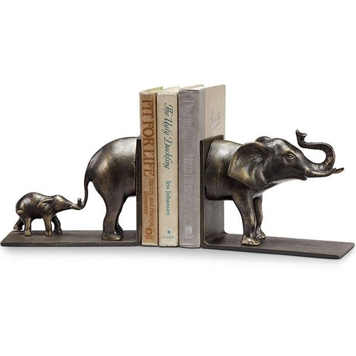 Elephant and Baby Bookends Pair | 34128