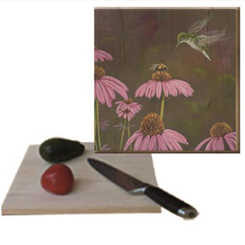 Bee and Hummingbird Cutting Board