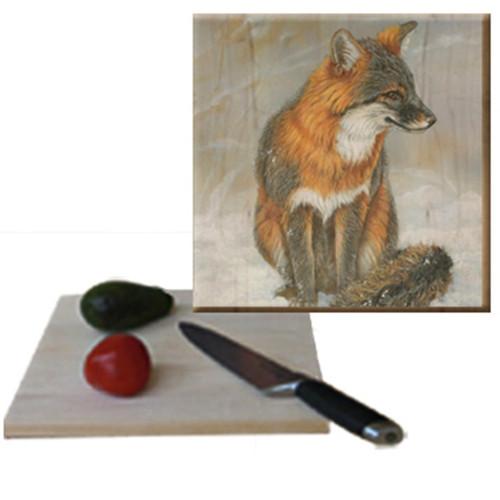 Gray Fox Cutting Board