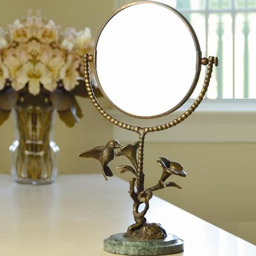 Hummingbird & Flower Vanity Mirror | BZ25407