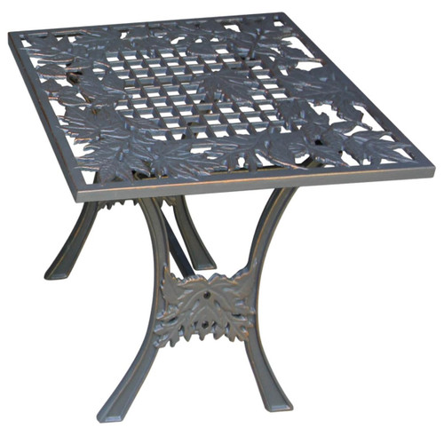 Oak Leaf Iron Outdoor Garden End Table