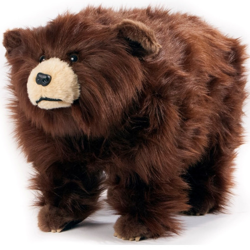 "Shaggy Brown Bear Footstool ""Griz"""