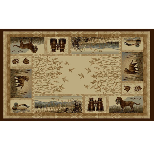 Duck Hunter Wilderness Area Rug American Cover Persian