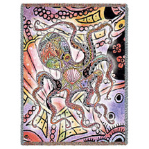 Octopus Tapestry Throw Blanket | Pure Country | 8008T