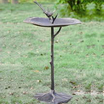 Bird on Branch Sundial Birdbath | 33348 | SPI Home