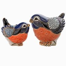 Robin and Baby Ceramic Figurine Set | De Rosa Rinconada | F137-F337