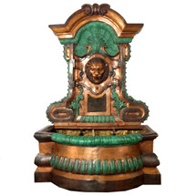 Lion Head Bronze Wall Fountain Statue   Metropolitan Galleries   SRB44305