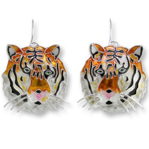 Bengal Tiger Enameled Wire Earrings | Zarah Jewelry | 29-09-Z1