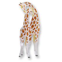 Giraffe Enameled Silver Plated Pin | Zarah Jewelry | 29-20-Z2