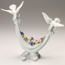 Doves Petals of Peace Porcelain Figurine | Lladro | 01006579