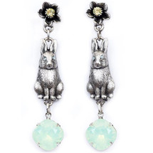 Bunny and Flower Dangle Earrings | La Contessa Jewelry | Mary DeMarco | ER9542