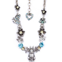 Bunny and Butterflies Necklace | La Contessa Jewelry | Mary DeMarco | NK9540LM