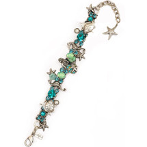Mermaid and Seahorse Bracelet | Nature Jewelry | BR9504BG