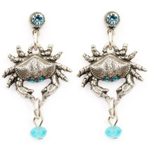 Crab Droplet Earrings | Nature Jewelry | ER9503BG