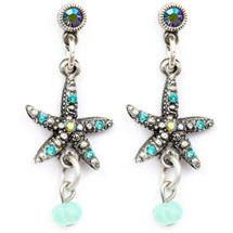 Starfish Droplet Earrings | Nature Jewelry | ER9501BG