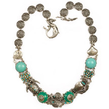 Stingray & Shells Chunky Necklace   Nature Jewelry   NK9512BG