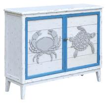 Crab and Turtle 2 Door Cabinet | Crestview Collection | CVFZR2247