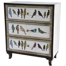 Birds on a Wire 3 Drawer Chest | Crestview Collection | CVFZR1921
